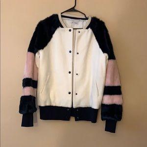 Zara faux fur bomber jacket